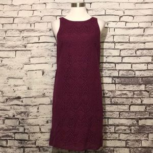 Loft Crochet Overlay Dress